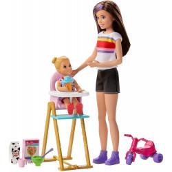 Кукла Барби Скиппер няня Кормление Barbie Skipper Babysitters Inc. Feeding Playset with Babysitting Skipper Doll