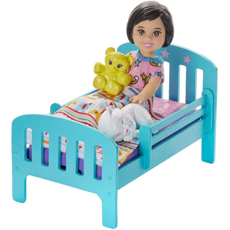 Лялька Барбі Скіппер няня Надобраніч Barbie Skipper Babysitters Inc. Bedtime Playset with Skipper Doll, Toddler Doll