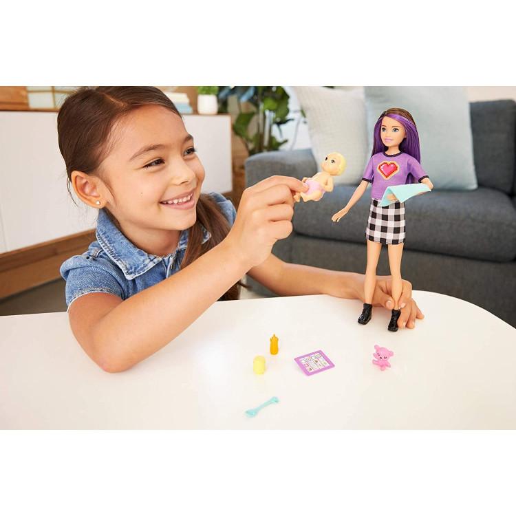 Кукла Барби Скиппер Няня с младенцем Barbie Skipper Babysitters Inc. Brunette Doll & Baby