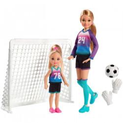 Игровой набор Барби куклы Стейси и Челси футболистки Barbie Team Stacie Doll & Chelsea Doll Soccer Playset