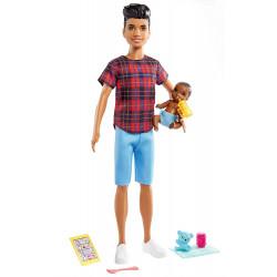 Кукла Барби Скиппер Парень Няня с младенцем Barbie Skipper Babysitters Inc. Brunette Boy Doll & Baby