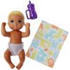 Барби пупс младенец Barbie Babysitters Inc. Diaper Baby Story Pack Blond, Violet