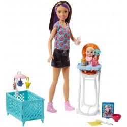 Кукла Барби Скиппер няня Кормление Barbie Skipper Babysitters Inc. Doll and Feeding Playset