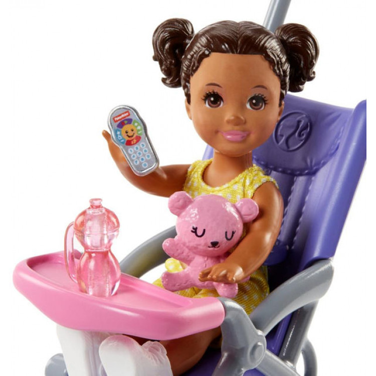 Кукла Барби Скиппер няня Прогулка Barbie Skipper Babysitters Inc. Stroller Doll and Playset