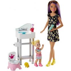 Кукла Барби Скиппер няня Приучение к горшку Barbie Skipper Babysitters Inc. Potty Training Doll and Playset