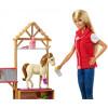 Кукла Барби Ветеринар на ферме Barbie Sweet Orchard Farm Doll & Vet Playset, Blonde