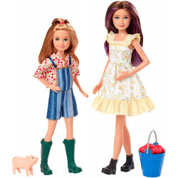 Набор кукол Скиппер и Стейси на ферме с поросенком Barbie Sweet Orchard Farm Skipper and Stacie Dolls