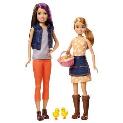 Набор кукол Скиппер и Стейси на ферме с цыплятами Barbie Sweet Orchard Farm Skipper & Stacie Dolls