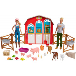 Игровой набор Куклы Барби и Кен с животными на ферме Barbie Sweet Orchard Farm Barn Playset With Barbie & Ken Dolls