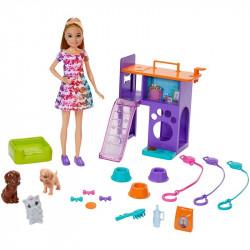 Ігровий набір Лялька Барбі Стейсі з цуценятами Barbie Team Stacie Puppies Playset