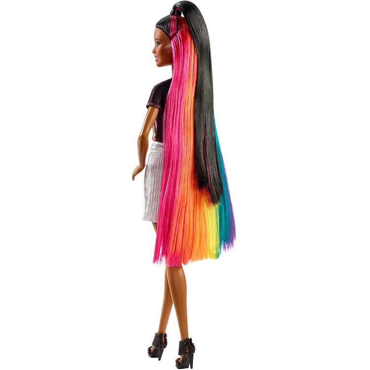 Барбі Райдужне сяйво волосся Barbie Rainbow Sparkle Hair Doll, Brunette