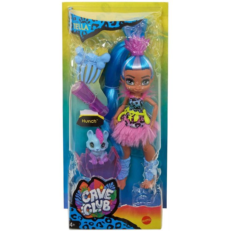 Лялька Телла та вихованець Ханч Печерний клуб Cave Club Tella Doll with Hunch Dinosaur Pet