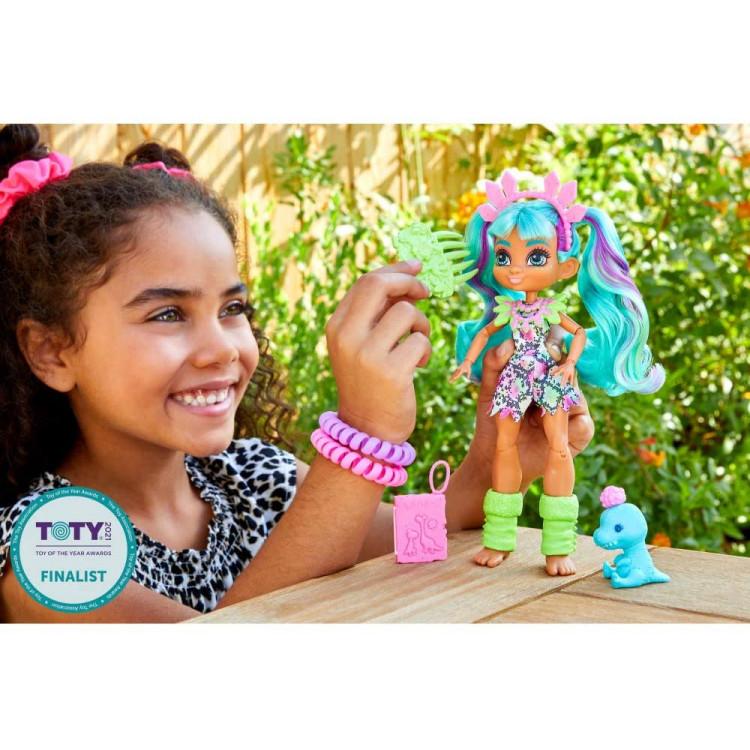 Кукла Рокель и питомец Пещерный клуб Cave Club Rockelle Doll with Teddy-Rex Dinosaur Pet