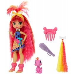 Кукла Эмберли и питомец Флер Пещерный клуб с неоновой прядью Cave Club Emberly Doll with Flaire Dinosaur Pet & neon-bright hair