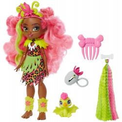 Кукла Фернесса и питомец Птилли Пещерный клуб с неоновой прядью Cave Club Fernessa Doll with Ptilly Dinosaur Pet & neon-bright hair