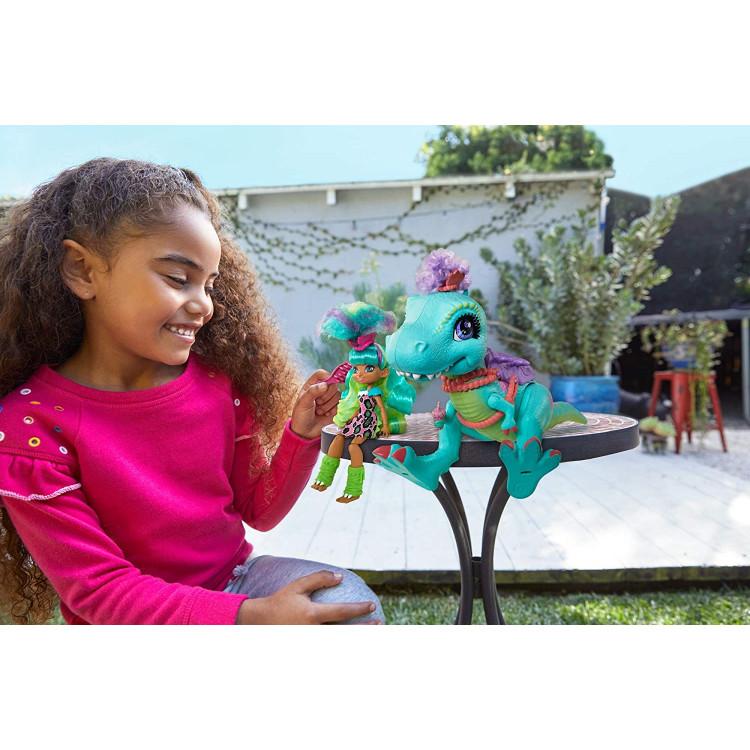 Лялька Рокєлль та Тірасаурус Прогулянка із динозавром Печерний клуб Cave Club Rockelle Doll and Tyrasaurus Dinosaur Pal Playset