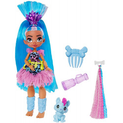 Кукла Телла и питомец Ханч Пещерный клуб с неоновой прядью Cave Club Tella Doll with Hunch Dinosaur Pet & neon-bright hair