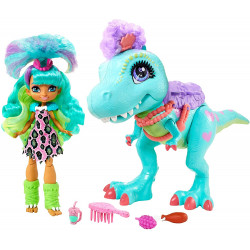 Кукла Рокелль и Тирасаурус Прогулка с динозавром Пещерный клуб Cave Club Rockelle Doll and Tyrasaurus Dinosaur Pal Playset