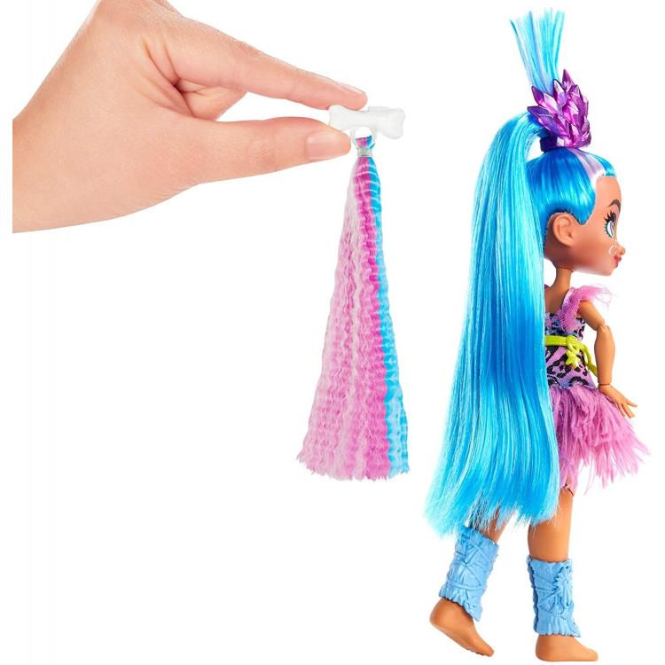 Лялька Телла та вихованець Ханч Печерний клуб з неоновим пасмом Cave Club Tella Doll with Hunch Dinosaur Pet & neon-bright hair