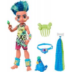 Кукла Слейт и питомец Тэгги Пещерный клуб с неоновой прядью Cave Club Slate Doll with Taggy Dinosaur Pet & neon-bright hair