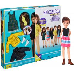 Игровой набор Кукла с аксессуарами Созидаемый мир, каштановые вьющиеся волосы Creatable World Deluxe Customizable Doll, Chestnut Brown Wavy Hair