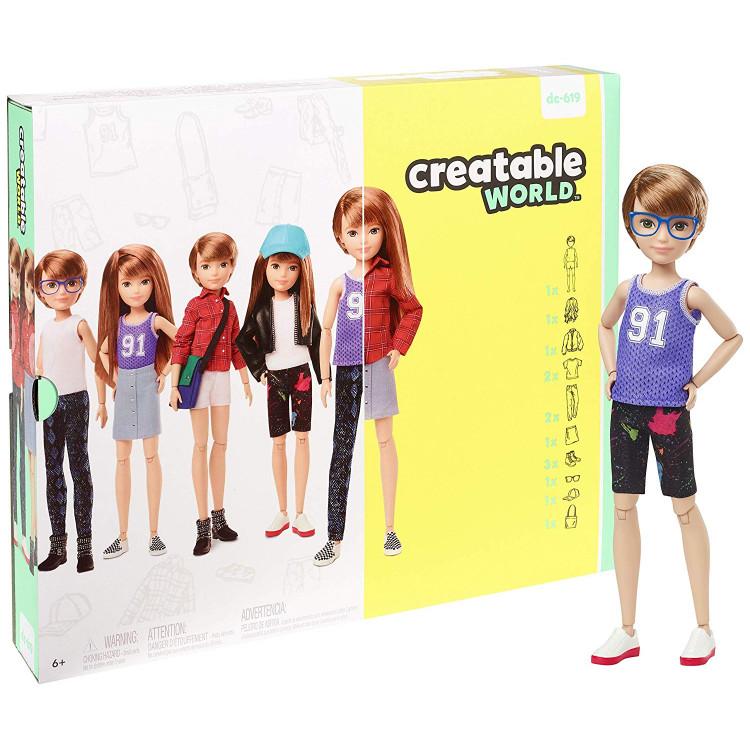 Ігровий набір Лялька з аксесуарами Творимий світ, мідне пряме волосся Creatable World Deluxe Character Kit Customizable Doll, Copper Straight Hair
