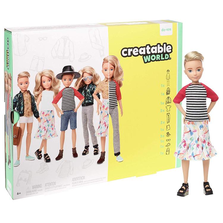 Ігровий набір Лялька з аксесуарами Творимий світ, світле хвилясте волосся Creatable World Deluxe Character Kit Customizable Doll, Blonde Wavy Hair