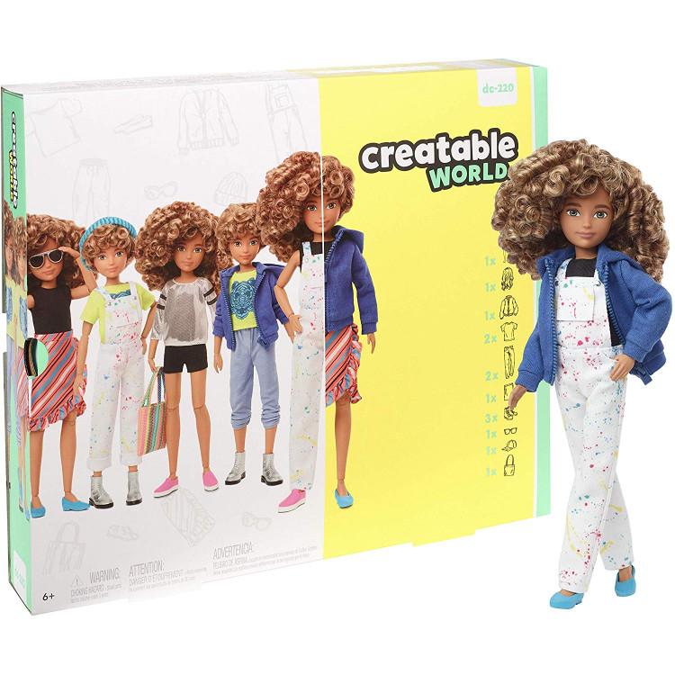 Игровой набор Кукла с аксессуарами Созидаемый мир, светлые кучерявые волосы Creatable World Deluxe Character Kit Customizable Doll, Blonde Curly Hair
