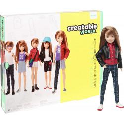 Игровой набор Кукла с аксессуарами Созидаемый мир, медные прямые волосы Creatable World Deluxe Character Kit Customizable Doll, Copper Straight Hair