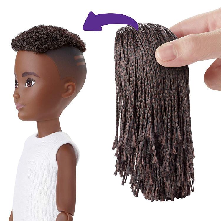 Ігровий набір Лялька з аксесуарами Творимий світ, чорняві афрокоси Creatable World Deluxe Character Kit Customizable Doll, Black Braided Hair