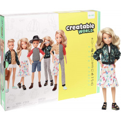 Игровой набор Кукла с аксессуарами Созидаемый мир, светлые вьющиеся волосы Creatable World Deluxe Character Kit Customizable Doll, Blonde Wavy Hair