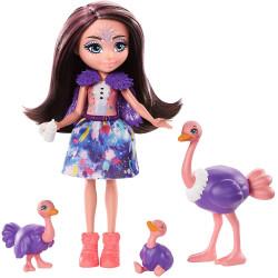 Игровой набор Семья Страуса Офелии Enchantimals Family Toy Set with Ofelia Ostrich Doll