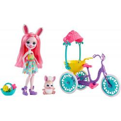 Игровой набор Кролик Бри и Твист Друзья на велосипеде Enchantimals Pedal Pals Bree Bunny Doll & Bicycle