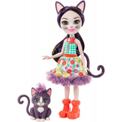 Кукла Кошечка Сиеста и Клаймбер Enchantimals Ciesta Cat Doll & Climber Animal Friend