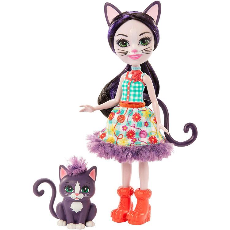 Лялька Кішка Сієста та Клаймбер Enchantimals Ciesta Cat Doll & Climber Animal Friend