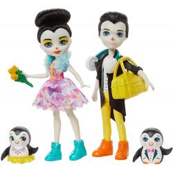 Игровой набор Танцы на льду Пингвины Прина и Паттерсон Enchantimals Darling Ice Dancers Skate with Preena and Patterson Penguin Dolls