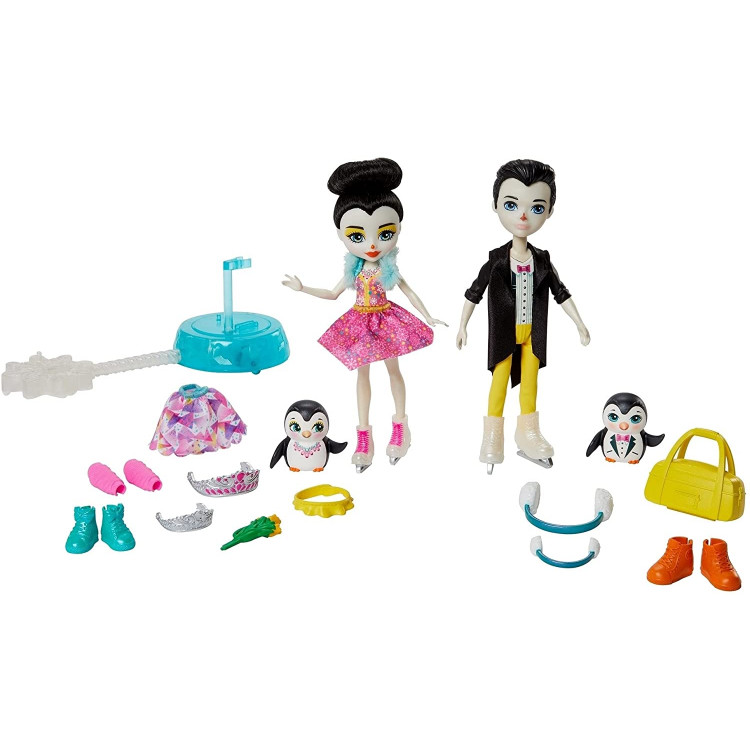 Ігровий набір Танці на льоду Пінгвіни Прина і Паттерсон Enchantimals Darling Ice Dancers Skate with Preena and Patterson Penguin Dolls