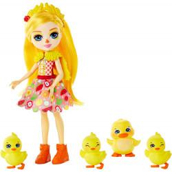 Кукла Утенок Дина и Слош с утятами Enchantimals Dinah Duck Doll with Slosh & Family