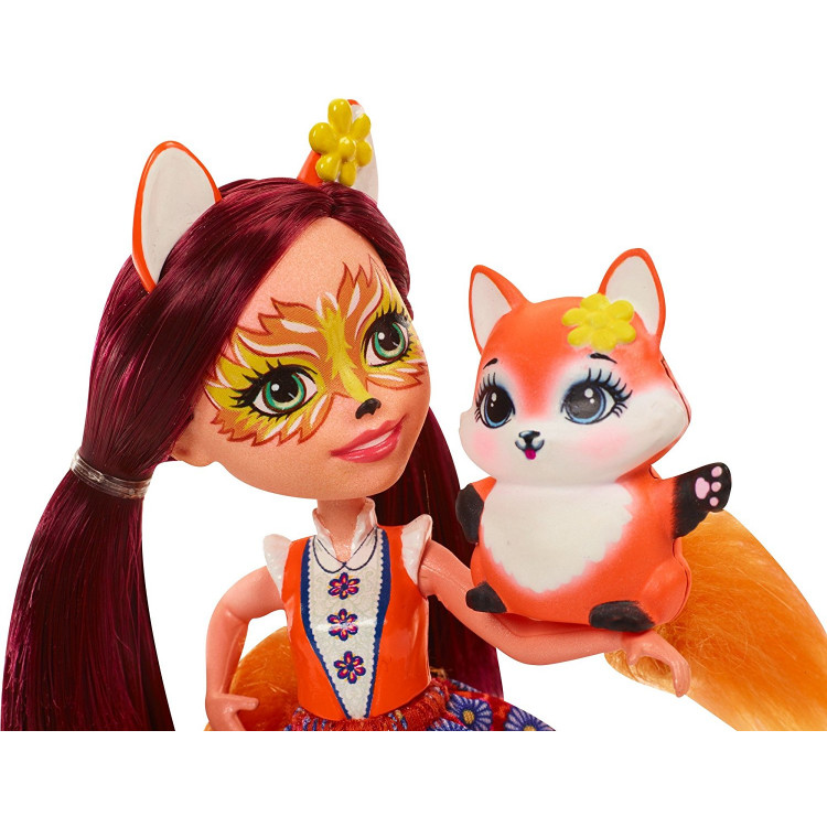 Лялька Лисичка Фелісіті та Флік Enchantimals Felicity Fox Doll with Flick