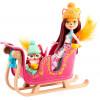 Ігровий набір Різдвяні санчата Лисички Фелісіті Enchantimals Snowtastic Sled Set with Felicity Fox Doll