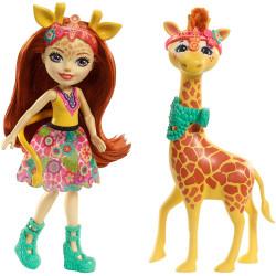 Кукла Жирафа Джилиан и Пауль Enchantimals Gillian Giraffe with Pawl