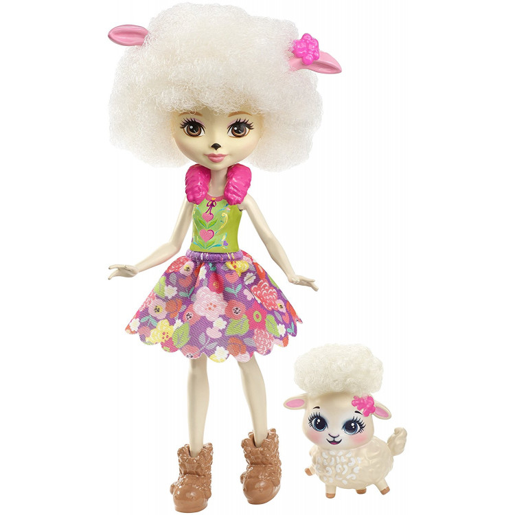 Лялька Барашка Лорна та Флаг Enchantimals Lorna Lamb Doll with Flag