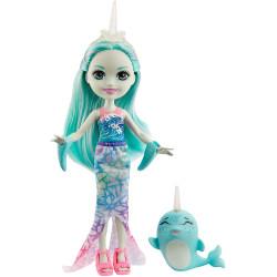 Кукла Нарвал Надди и Сворд Enchantimals Naddie Narwhal Doll & Sword Animal Friend