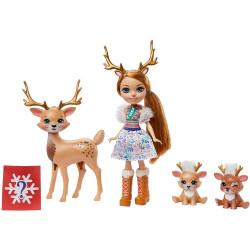 Игровой набор с сюрпризом Семья северных оленей Рейни Enchantimals Family Toy Set with Rainey Reindeer Doll