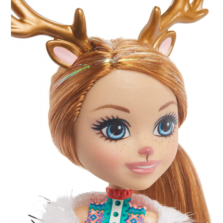 Ігровий набір з сюрпризом Сім'я північних оленів Рейні Enchantimals Family Toy Set with Rainey Reindeer Doll