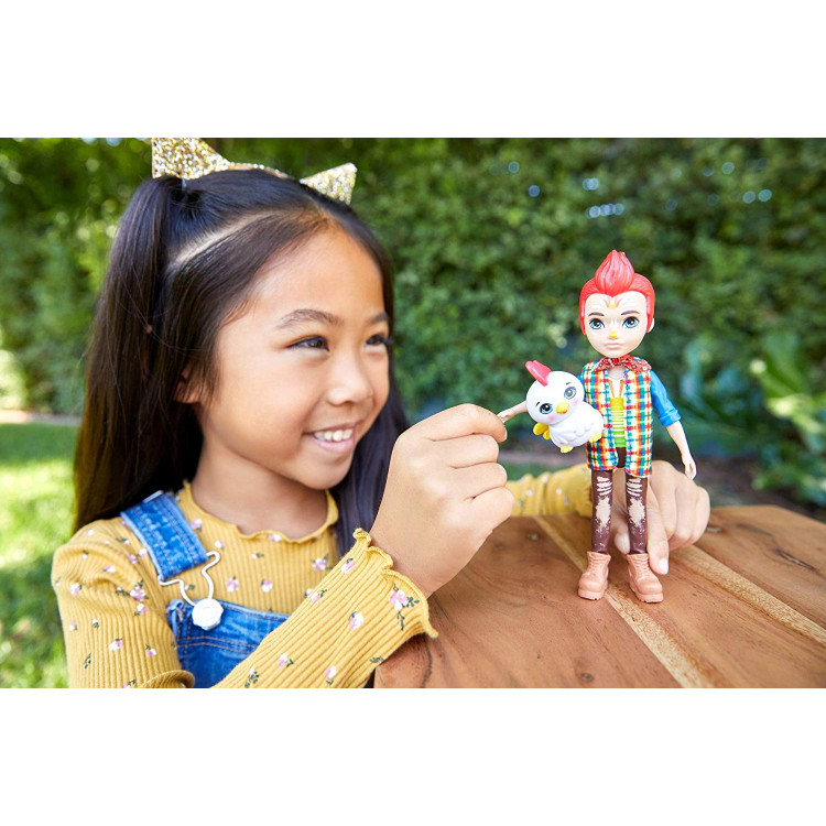 Лялька Півень Редвард та Клак Enchantimals Redward Rooster Doll & Cluck Animal Friend