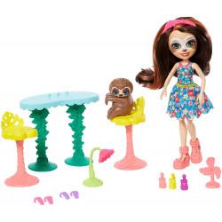 Игровой набор Салон красоты Сэлы Ленни с ленивцем Enchantimals Slow-Down Salon & Sela Sloth Doll
