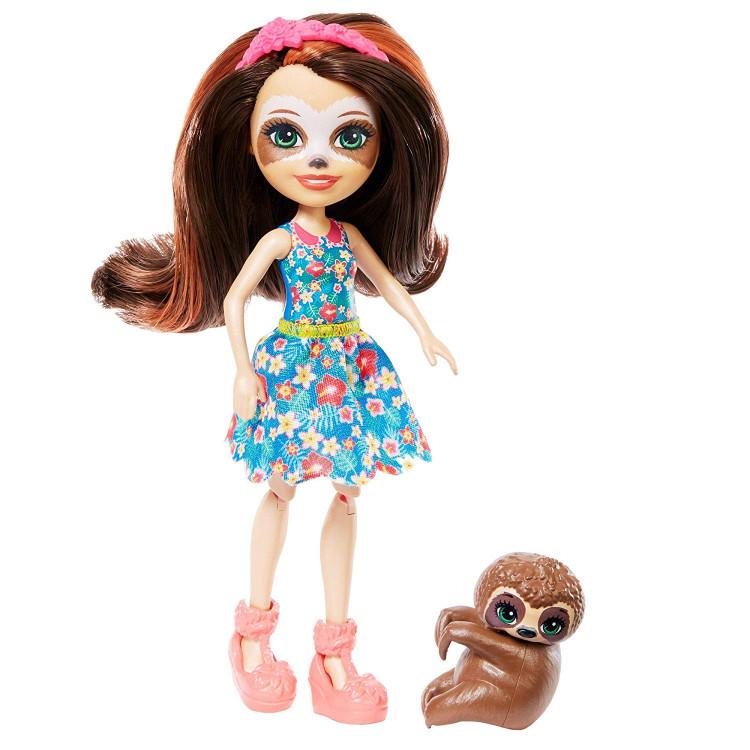Ігровий набір Салон краси Сели Ленні з лінивцем Enchantimals Slow-Down Salon & Sela Sloth Doll