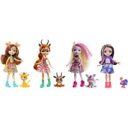 Набор из четырех кукол Друзья в Солнечной Саванне Enchantimals Sunny Savanna Collection 4 Pack Dolls