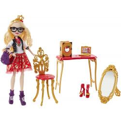 Ігровий набір Лялька Еппл Уайт назад до школи Ever After High Apple White  Back To School Room to Study Doll
